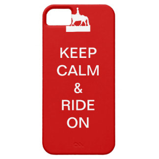 Keep calm & ride on iPhone 5 cover