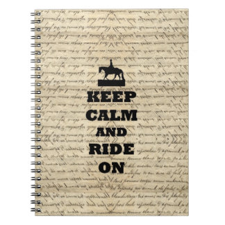 Keep calm & ride on notebook