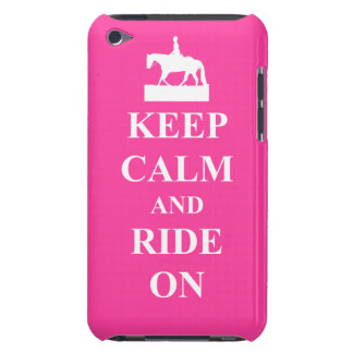 Keep calm ride on pink Case-Mate iPod touch case