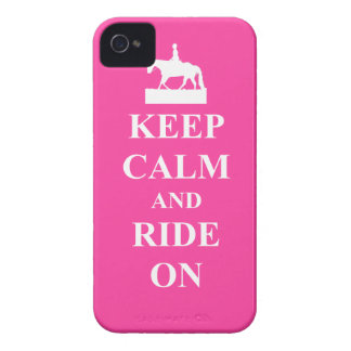 Keep calm & ride on (pink) iPhone 4 cases