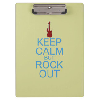 Keep Calm Rock Out – Parody -- Beige Background Clipboard