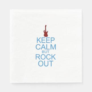 Keep Calm Rock Out - Parody Disposable Serviette
