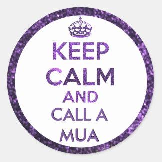 Keep calm round sticker