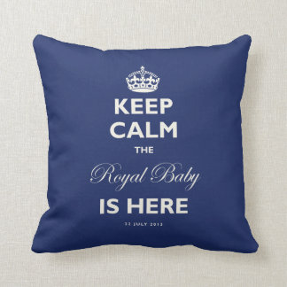 Keep Calm Royal Baby Birth Announcement Cushion