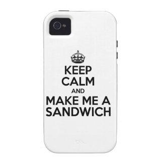Keep Calm Sandwich iPhone 4 Cases