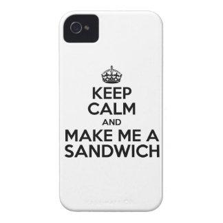 Keep Calm Sandwich iPhone 4 Covers