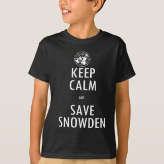 Keep Calm Save Snowden Dark Shirt