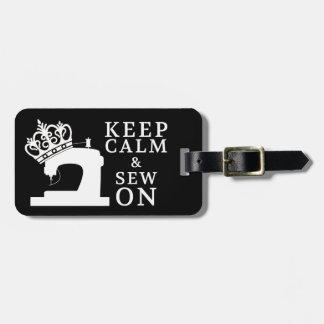 Keep Calm Sew On Crafts / Crown Logo {Dark} Luggage Tag