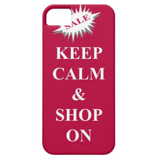 keep calm & shop on iPhone 5 case