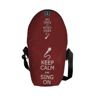 Keep Calm & Sing On custom color messenger bag