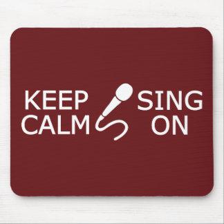 Keep Calm & Sing On custom color mousepad