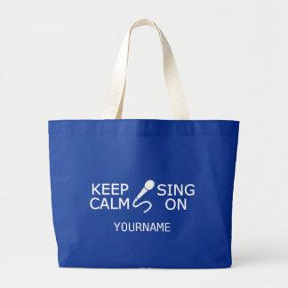Keep Calm & Sing On custom tote bags