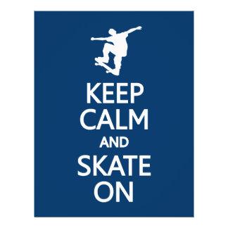 Keep Calm & Skate On custom flyers