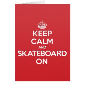 Keep Calm Skateboard Greeting Note Card