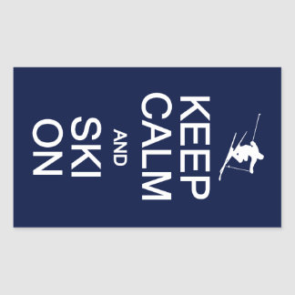 Keep Calm & Ski On stickers