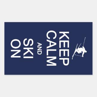 Keep Calm Ski On stickers