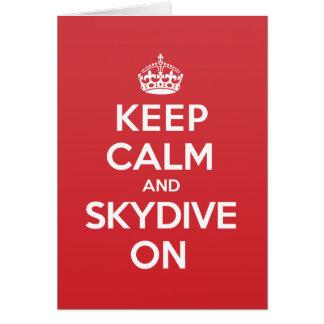 Keep Calm Skydive Greeting Note Card