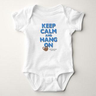 """Keep Calm"" Sloth Sanctuary Onesy Baby Bodysuit"