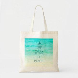 Keep Calm Small Beach Bag