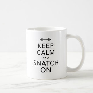 Keep Calm Snatch On Black Basic White Mug
