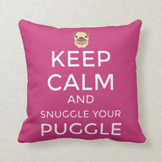 Keep Calm & Snuggle Your Puggle PILLOW Customised!