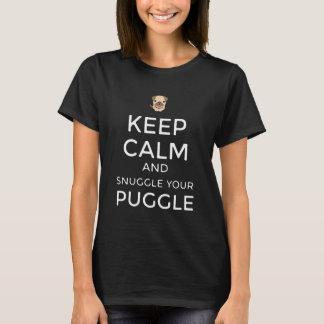 Keep Calm & Snuggle Your Puggle TSHIRT Customized!