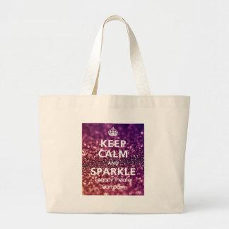 Keep Calm & Sparkle Jumbo Tote Bag