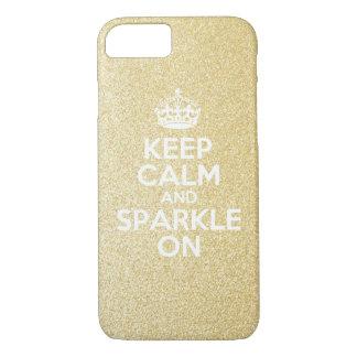 Keep Calm & Sparkle On iPhone 7 Case
