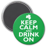 Keep Calm St Patricks Day Humour Fridge Magnets