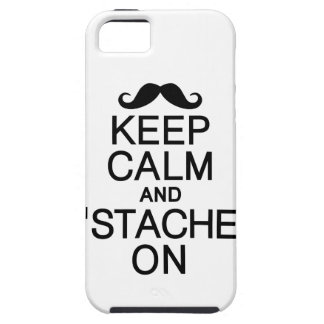 Keep Calm & 'Stache On iPhone 5 Case-Mate iPhone 5 Case