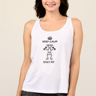 Keep Calm Stay Fit Workout Tank Top