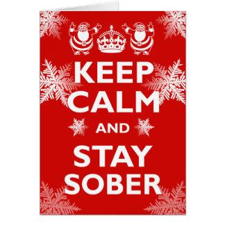 Keep Calm & Stay Sober Card