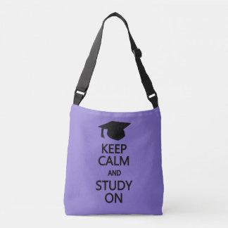 Keep Calm & Study On custom color bags Tote Bag