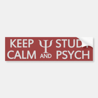 Keep Calm & Study Psych custom bumpersticker Bumper Sticker