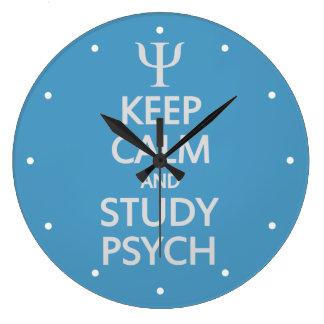Keep Calm & Study Psych custom wall clock