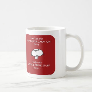 keep calm swear break stuff basic white mug