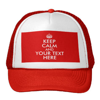 Keep Calm Template Add Your Text Custom Mesh Hats