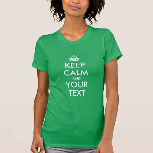 Keep calm template customise t shirt design zazzle for Zazzle t shirt template