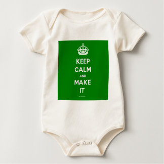 keep calm template generated baby bodysuit