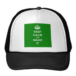 keep calm template generated cap