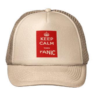 Keep Calm then Panic Cap