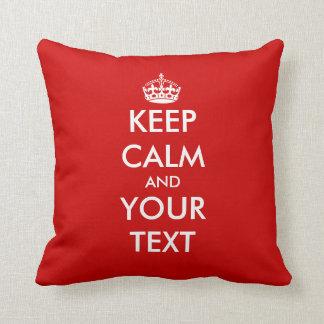 Keep calm throw pillow | Customizable template Throw Cushions