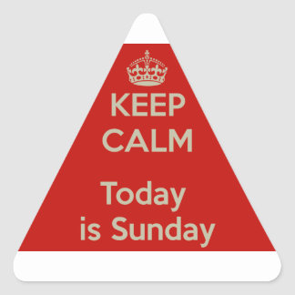 Keep calm today s Sunday - He stay cool, is Sunday