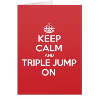 Keep Calm Triple Jump Greeting Note Card