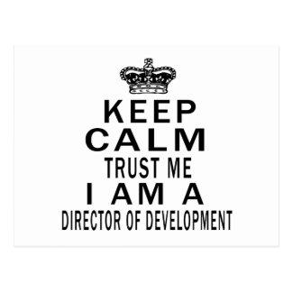 Keep Calm Trust Me I Am A Director of development Post Cards