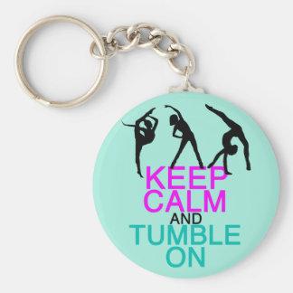Keep Calm Tumble On Gymnastics Key Ring
