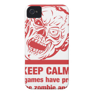 Keep calm, video games prepared me for zombie... iPhone 4 Case-Mate cases