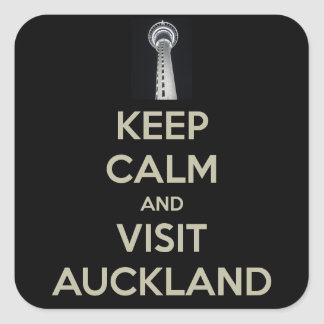 keep calm visit auckland square sticker