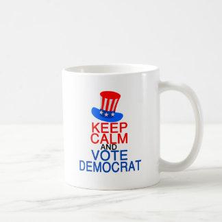 Keep Calm Vote Democrat Coffee Mug