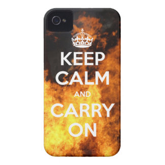 Keep Calm w/ Fire iPhone 4 Case